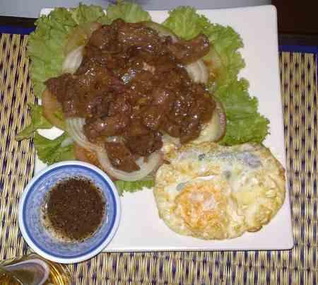 Cambodian Sitr Fried Beef, Lok Lak