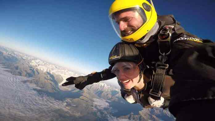 Skydiving over Fox Glacier