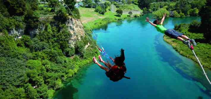 Double the fun with the Taupo Bungy & Cliffhanger Swing
