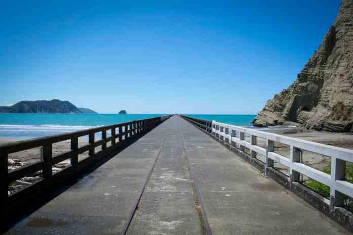 New Zealand's longest pier, Tolaga Bay Wharf, on the East Cape - Stray East Coaster Pass