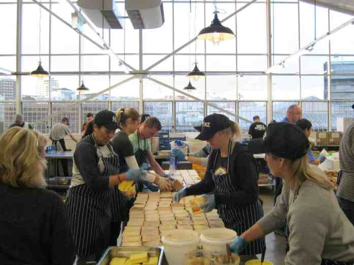 Stray staff preparing healthy sandwiches for Eat My Lunch