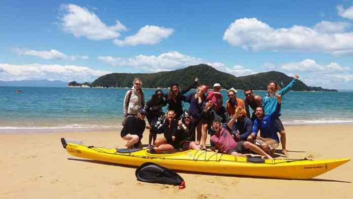 Group pirate party in Abel Tasman new years eve
