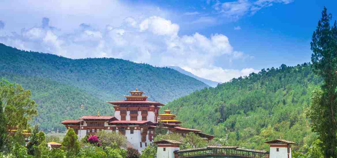 Punakha Dzong Monastery, one of the largest monestary in Asia, Punakha, Bhutan