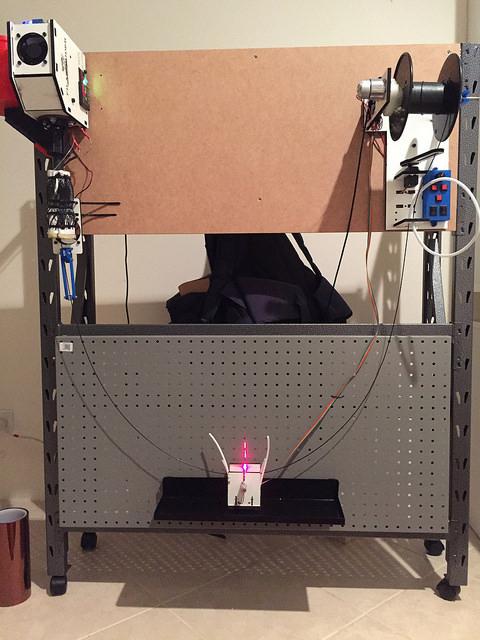Filastruder setup with winder