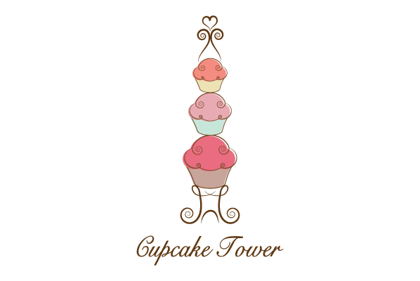 Cupcake Tower Bakery Logo