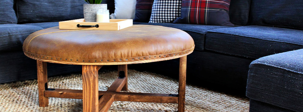 diy how to build a leather ottoman