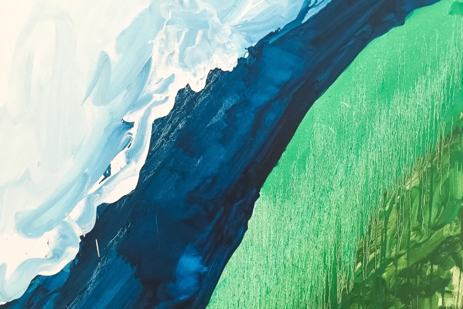 The ultimate experience - Crashing Wave, Mary Heilmann, Stuart Bush Studio Blog