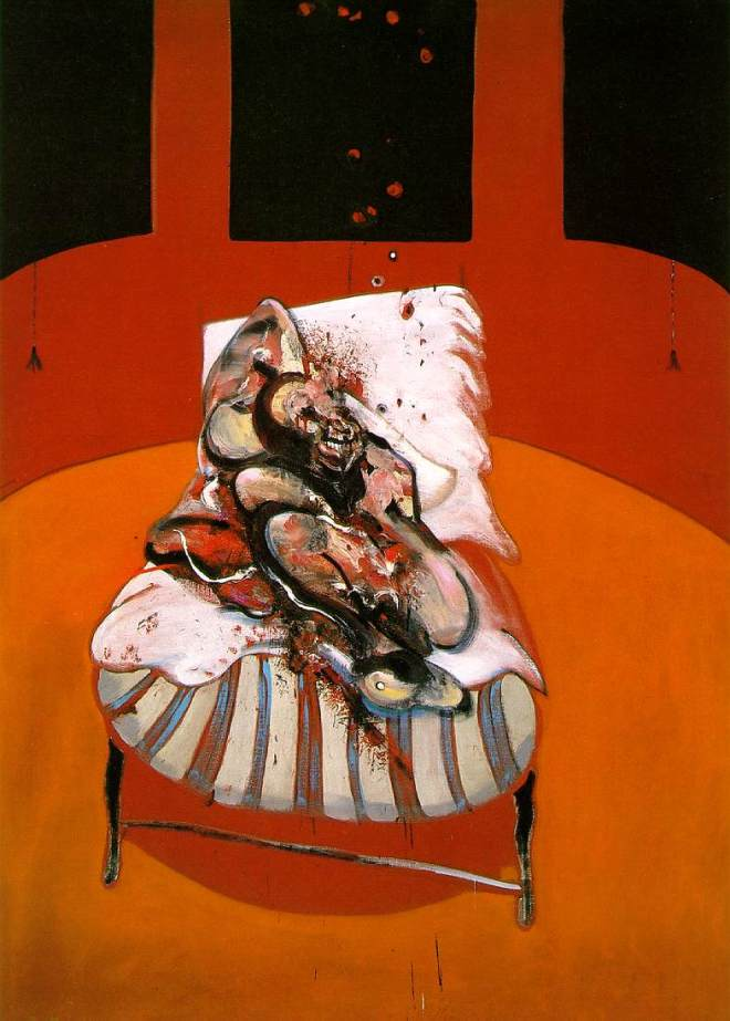 Stuart Bush Studio Blog, Francis Bacon, Figure at the base of crucifixion, The influential work of Francis Bacon lead me to become a painter