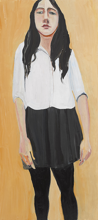 Chantal Joffe review, stuart bush studio notes,