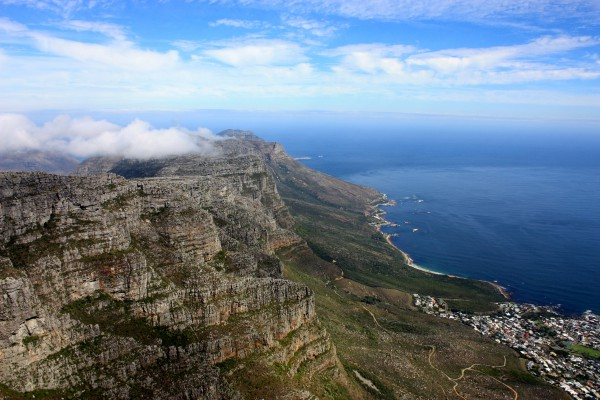 Table Mountain National Park stretches all the way down the peninsula.