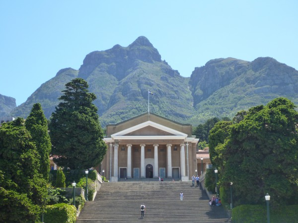 Jammie Plaza is at the center of UCT. Student life happens here right under Devil's Peak