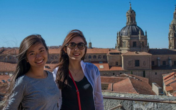 On top the cathedral, my friend Mira (on the right) and I snapped a picture of the horizon of Salamanca. Gorgeous!