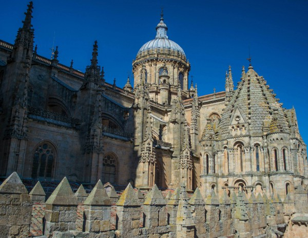 Pictured above is the sight of the New Cathedral of Salamanca. It was finished being constructed in the 18th century.