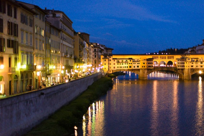 The Enchanted City' Florence during the day is beautiful, but during the night the city is even more spectacular.