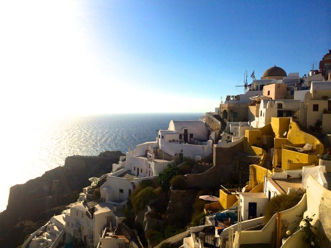 I went to the town Oia in Greece where hundreds of people gathered to watch the sunset. One of the most memorable moments I have had while traveling.