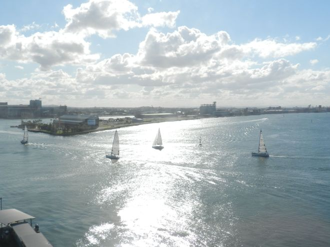 As it was a beautiful day, I was lucky enough to capture sailboats coming back into the harbour after a day at sea.