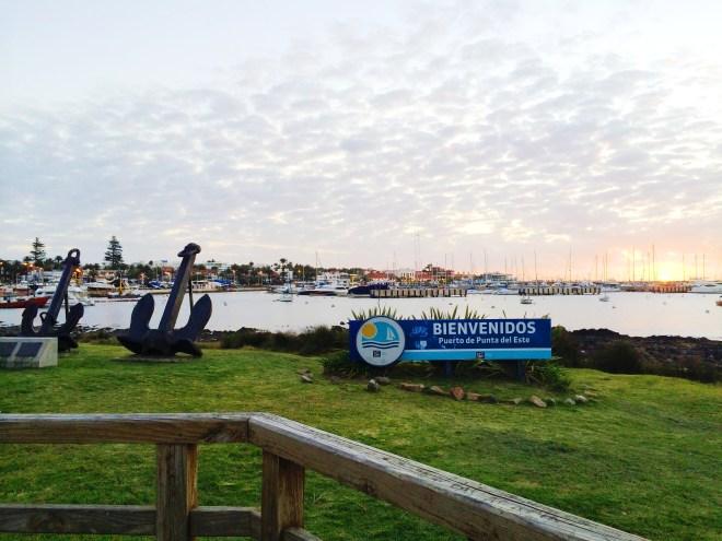 Bienvenidos a Punta del Este--The beautiful beach town of Putna del Este, Uruguay