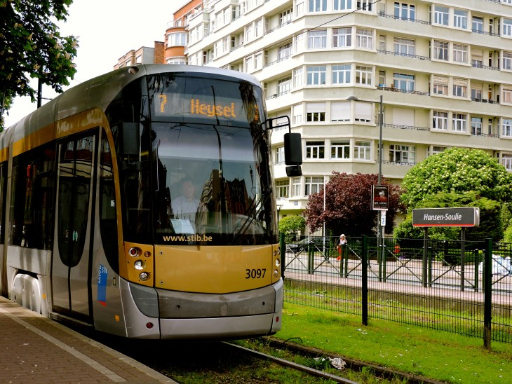 Fun fact: The trams, buses, and metros of the STIB transport on average 700,000 customers per day.
