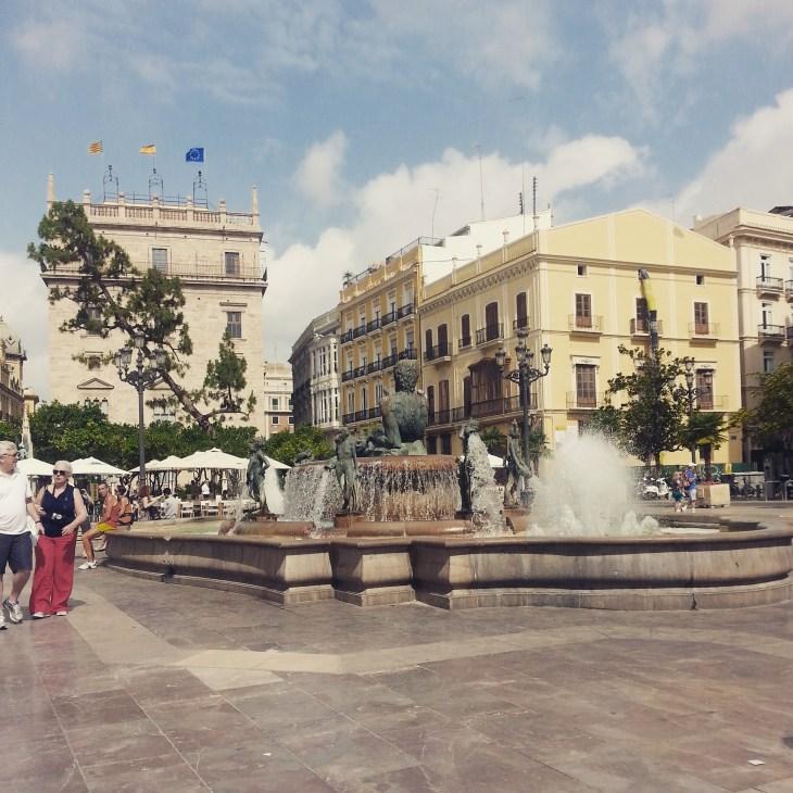 Plaza de la Virgen in Valencia.