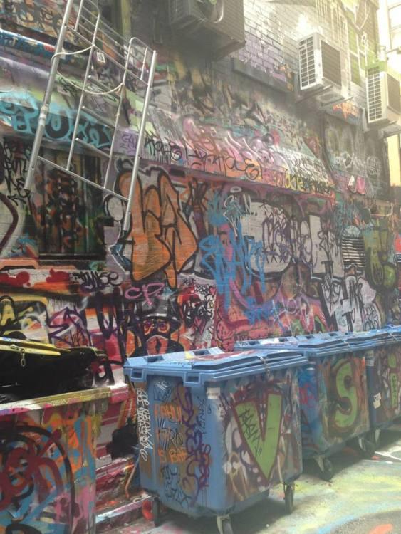 Hosier Lane is famous for its unique street art.