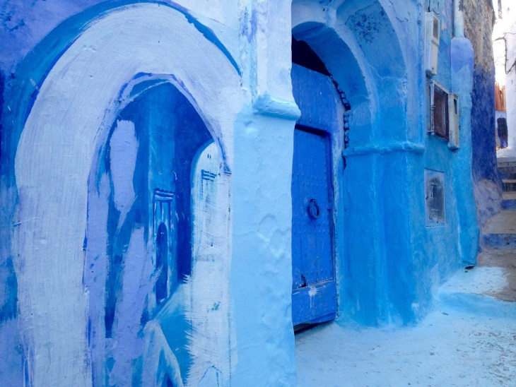 Door in Medina, Chefchaouen, Morocco, Olausson