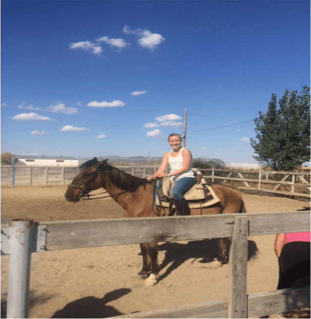 Cowgirl Randi takes Salamanca by the reins