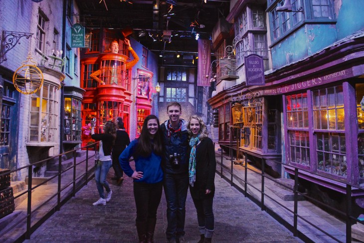 Diagon Alley is a key place in all 8 Harry Potter movies and it's a set that actually exists!