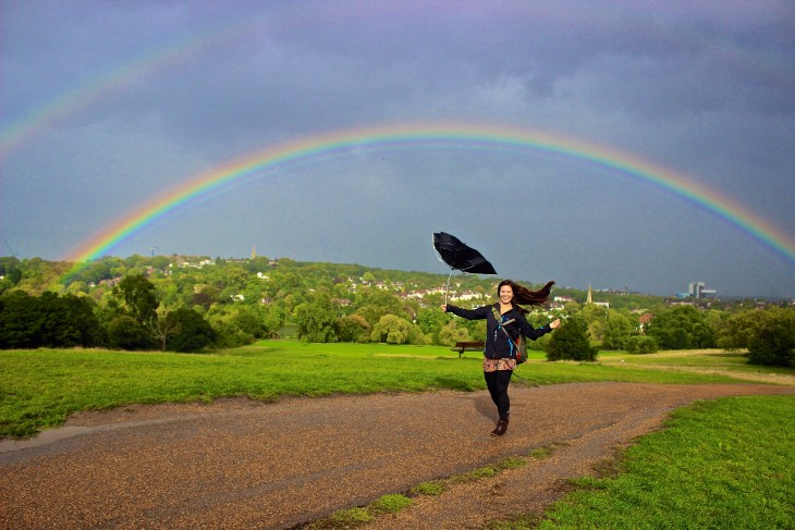 England may be a perpetually rainy country, but every storm runs out of rain eventually and the rainbows that follow the rain are always spectacular!