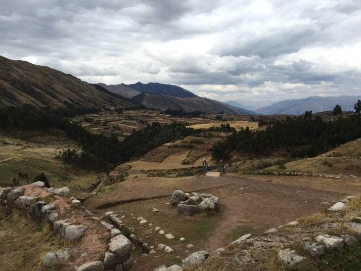 Puka Pukara ruins and view of mountains