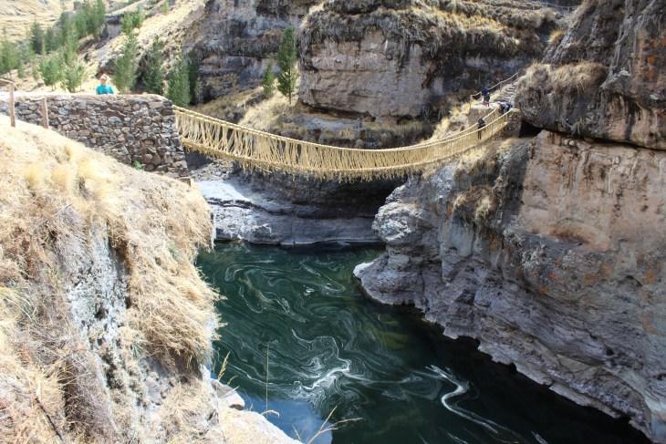 Rope bridge above the river