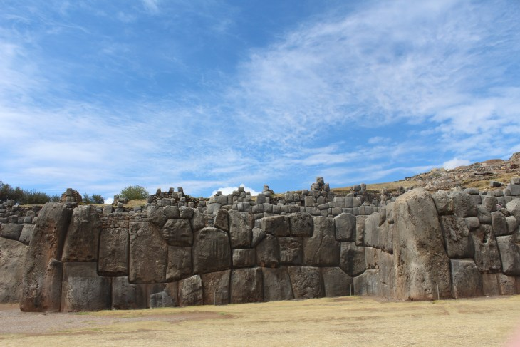 Part of the giant stone wall at Sacsayhuaman