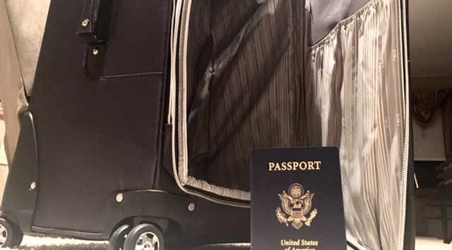 Suitcase, Passport, USA, Havey