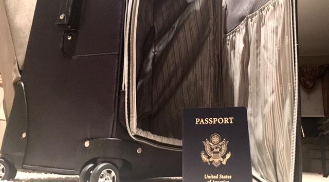 Suitcase, Passport, USA, Havey