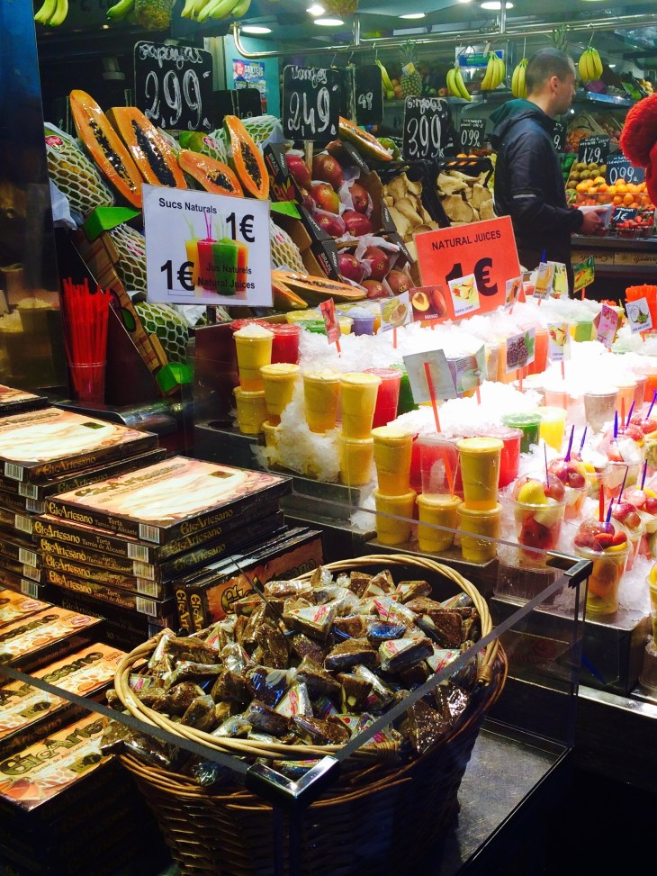 Some fresh juice from La Boqueria