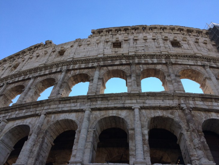 The Colosseum' This picture was taken during our bus tour of Rome that ISA had provided for us as part of orientation when we first arrived