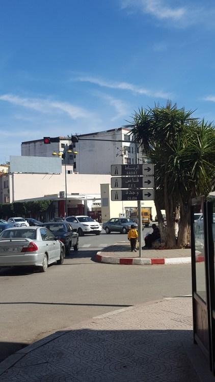 Cars on a Meknes street