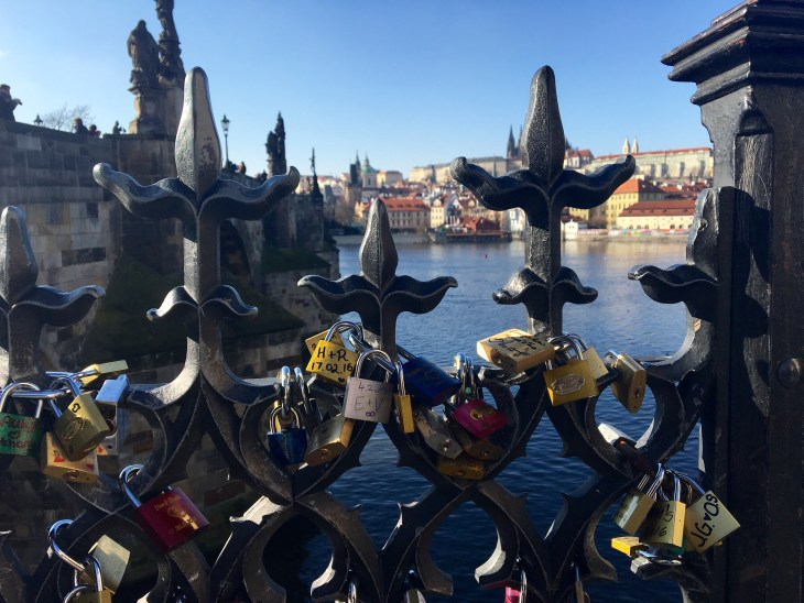 One of my favorite views from the end of Charles Bridge in Prague.