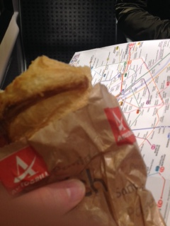 Croissants are good thinking food while trying to figure out the Metro map.