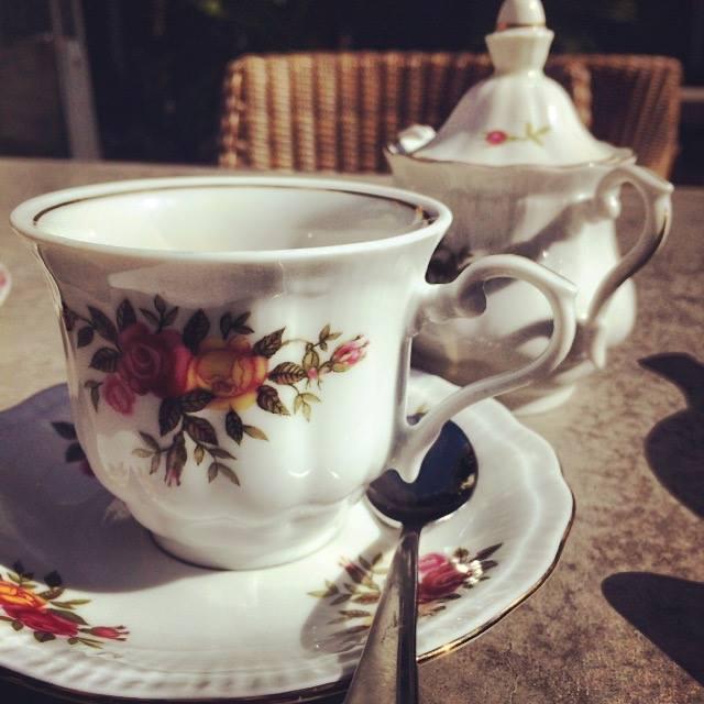 Enjoying high tea in New Zealand