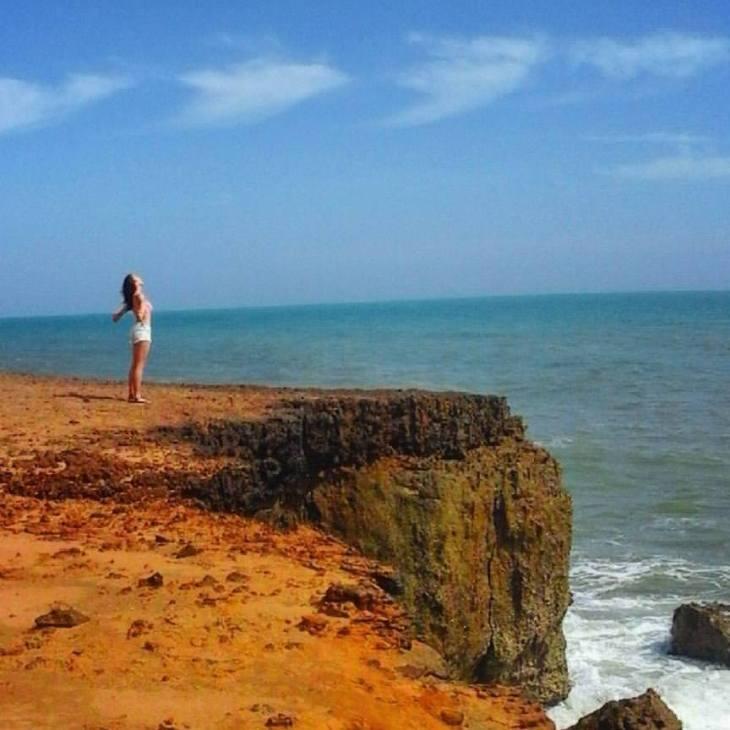 Cliffs in La Guajira.