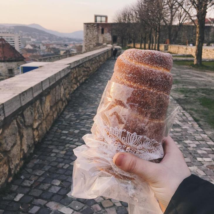 Though not very adventurous, the street sweets in Prague are well worth a try. My new favorite is the Trdelnik.