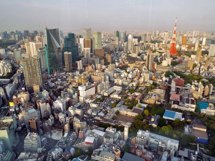 Here's an example of one of the views! You can even see Tokyo Tower.
