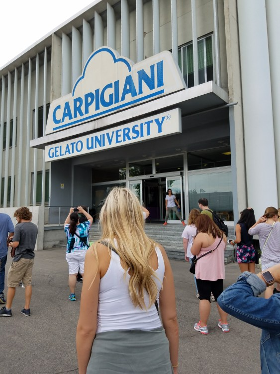 """One of my field trips to Gelato University in Bologna - I sampled """"fresh peach."""""""