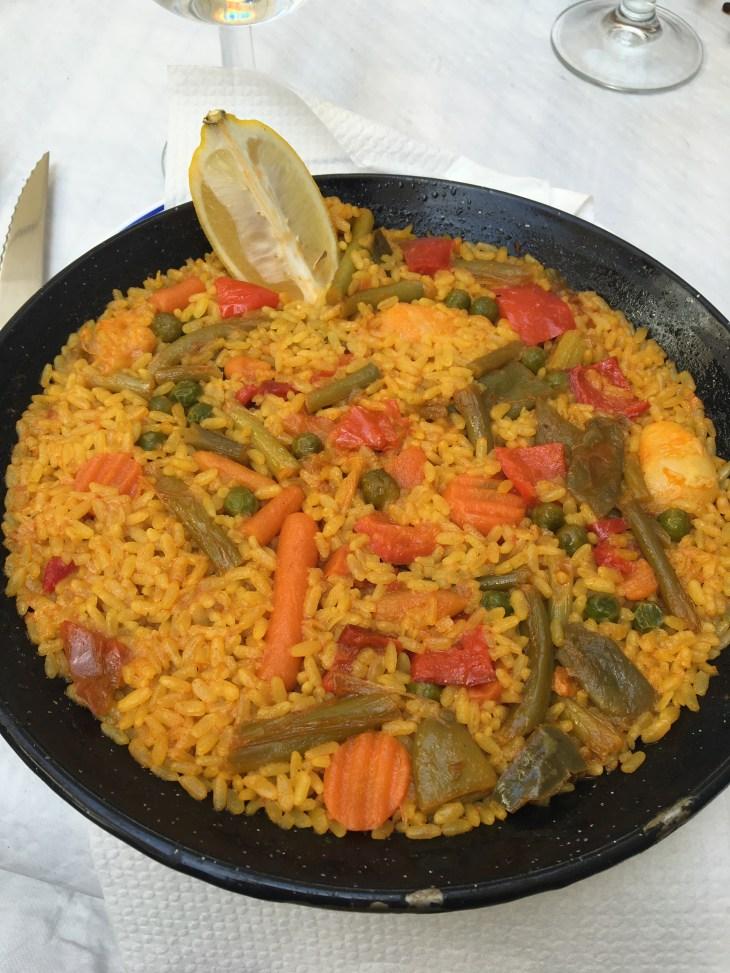 The traditional, delicious Spanish dish, paella.