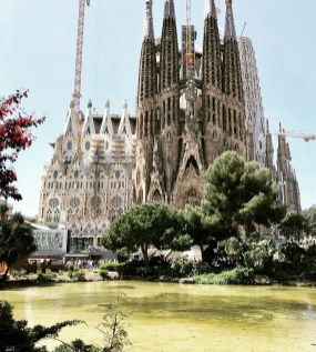 The famous Sagrada Familia in Barcelona, Spain