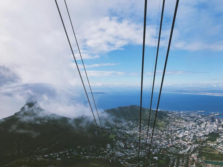 cable car ride table mountain