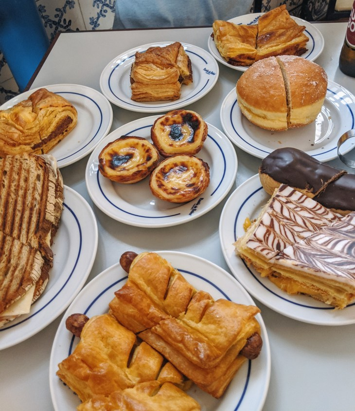 assorted pastries on a table