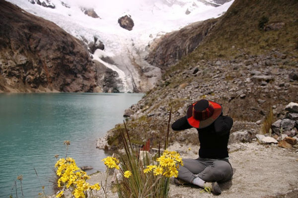 ISA student hiking in Peru.