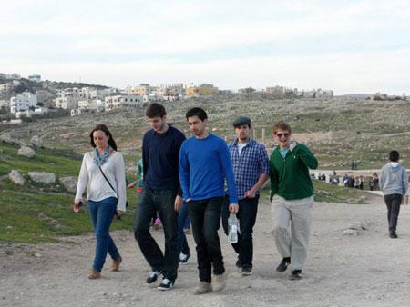 Students walking in Jordan