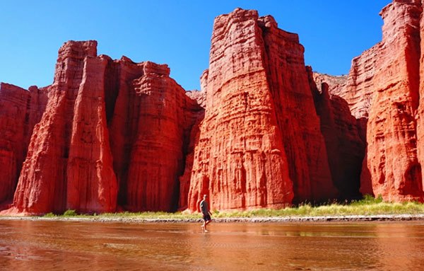 The red rocks of Salta, Argentina